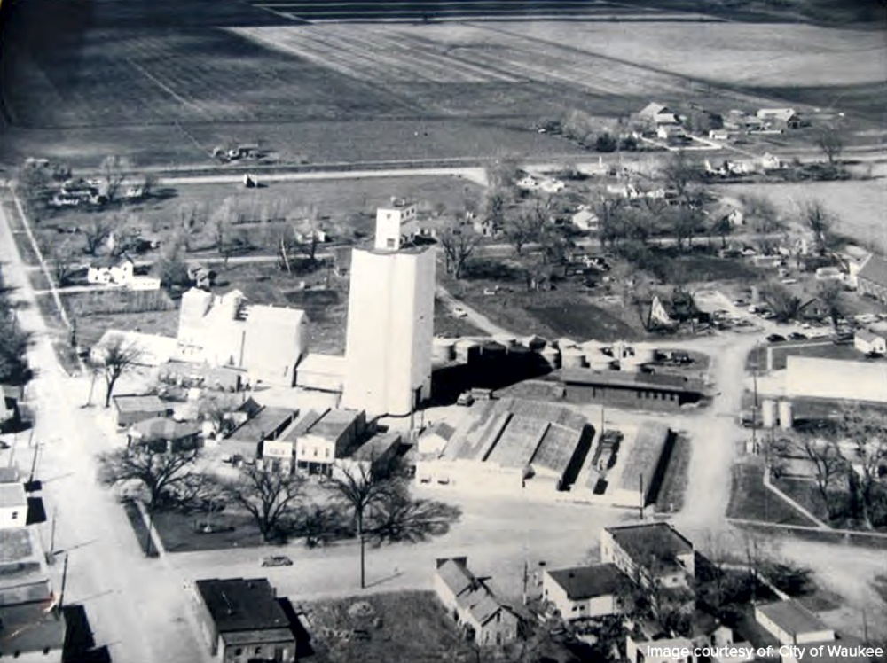 This is an aerial view of Waukee looking to the Southeast.