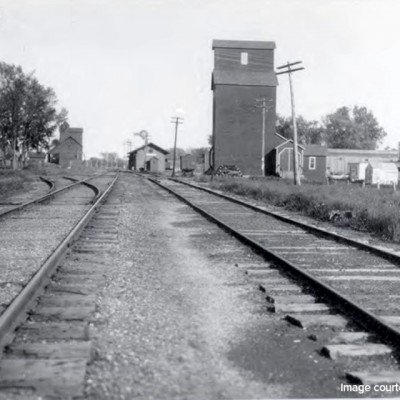 Looking East on the train tracks in 1914.