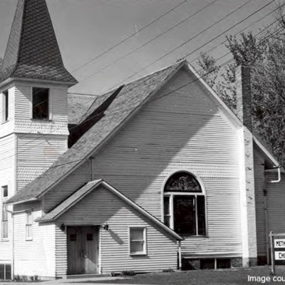 A picture of the Methodist Church in 1955.