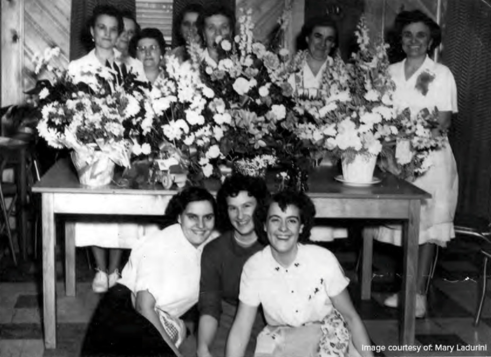 Many women worked at restaurants to supplement a family's income. There were two restaurants: Alice's Spaghetti Land and Rosie's. Both were popular with locals and mining families. The staff wore starched white uniforms with white shoes.