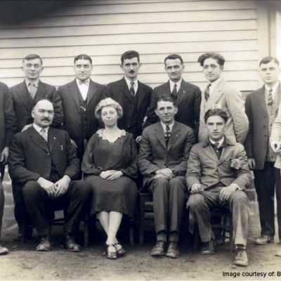 Beginning in 1928, night classes were taught to the foreigners who worked in the mine. They learned English in order to gain U.S. citizenship, and for many it was the first time they had attended school.
