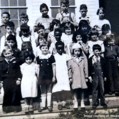 The Waukee Mine School opened in January of 1926. The school had two classrooms. Stoves heated the rooms, stoked with corncobs soaked in kerosene.