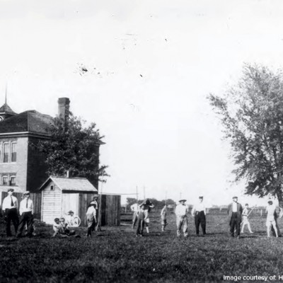 The Waukee School and Ball Fields in 1901.