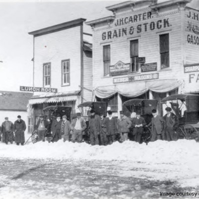Winter on Main Street in 1913.