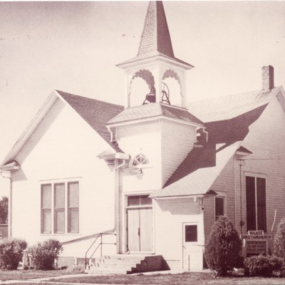 The Christian Church was built in 1902, for $2,000.